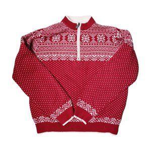 L.L. BEAN Fair Isle Nordic Pullover Sweater